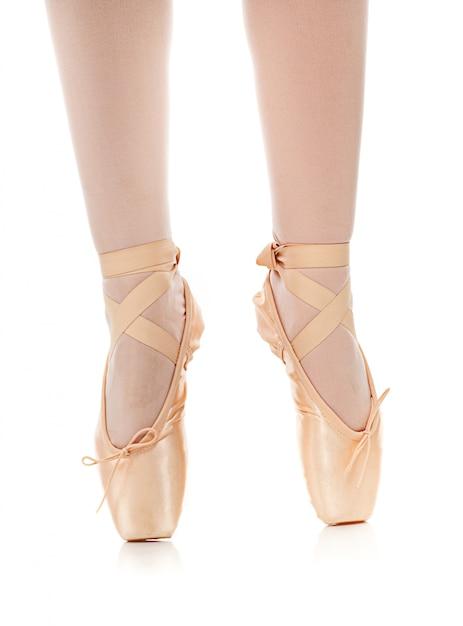 Szczegół baletniczego tancerza cieki Premium Zdjęcia