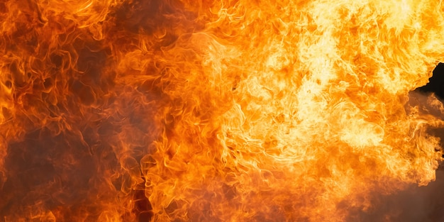 Szczegół tło płomienia ognia i wzór Premium Zdjęcia