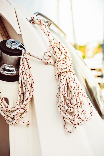 Szczegóły Jachtu Rekreacyjnego Premium Zdjęcia