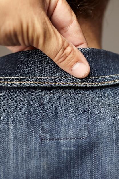 Szczegóły Modelu Na Sobie Niebieską Jeansową Kurtkę Darmowe Zdjęcia