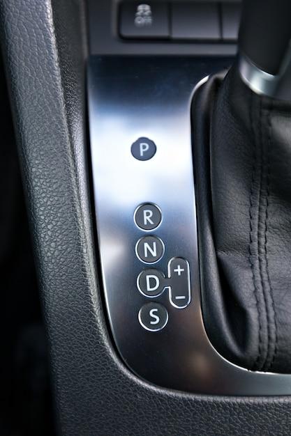 Szczegóły wnętrza nowoczesnego samochodu Premium Zdjęcia