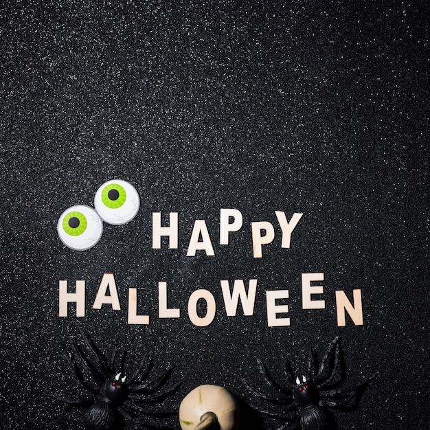 Szczęśliwy Halloween Skład Z Kopii Przestrzenią Na Wierzchołku Darmowe Zdjęcia
