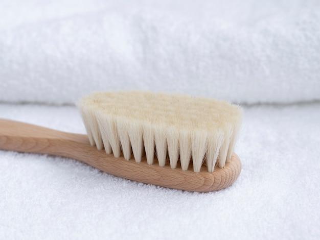 Szczoteczka do zębów z bliska drewniane ręczniki Darmowe Zdjęcia