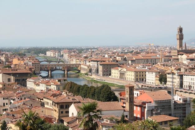 Szerokie Ujęcie Florencji We Włoszech Z Czystym Błękitnym Niebem Darmowe Zdjęcia