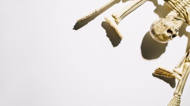 Szkielet Leży Z Krzywe Ręce I Nogi Darmowe Zdjęcia
