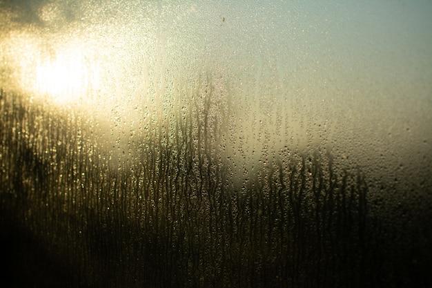 Szklane Okno Odbija światło Przez Swoją Mokrą Teksturę Darmowe Zdjęcia