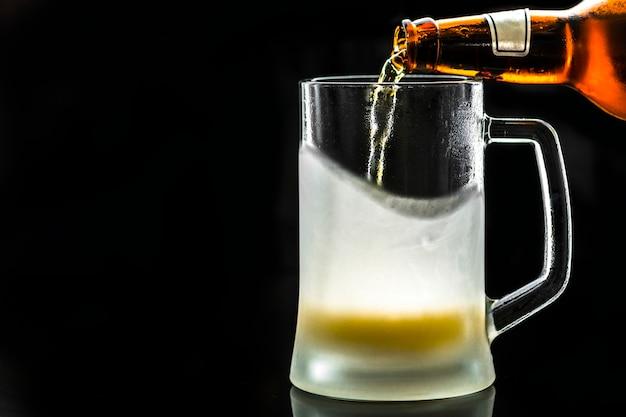Szklanka Zimnego Piwa Makro Fotografia Darmowe Zdjęcia