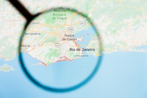 Szkło Powiększające Na Mapie Brazylii Premium Zdjęcia