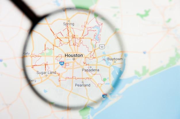 Szkło Powiększające Na Mapie Stanów Zjednoczonych Premium Zdjęcia