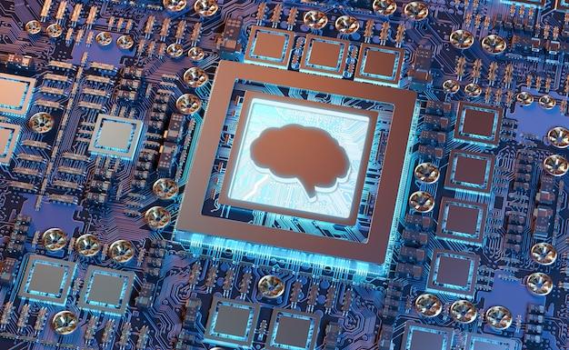 Sztuczna Inteligencja W Nowoczesnej Karcie Graficznej Premium Zdjęcia