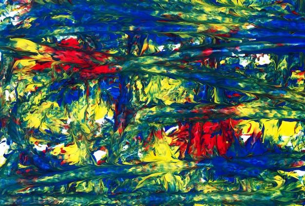 Sztuka abstrakcyjna. kreatywne ręcznie malowane tła Premium Zdjęcia