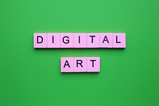 Sztuka Cyfrowa Na Zielonym Tle Premium Zdjęcia
