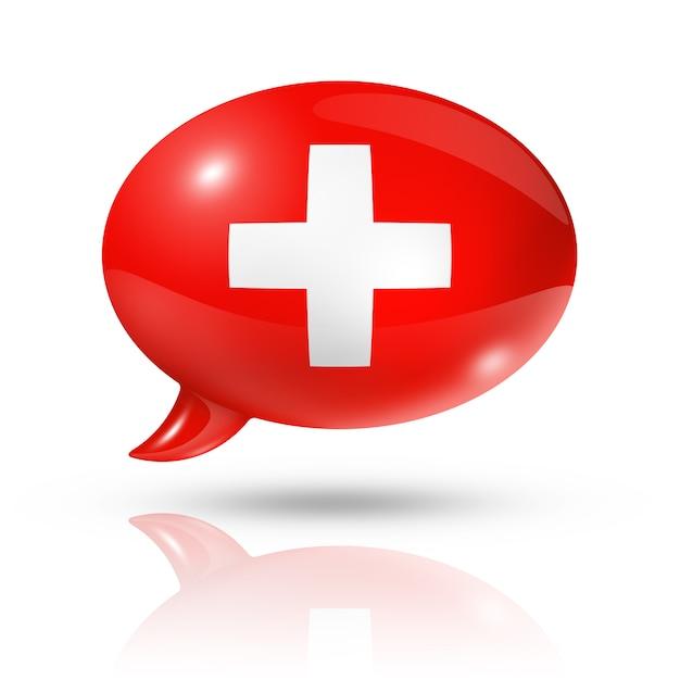Szwajcarski Bańka Mowy Premium Zdjęcia