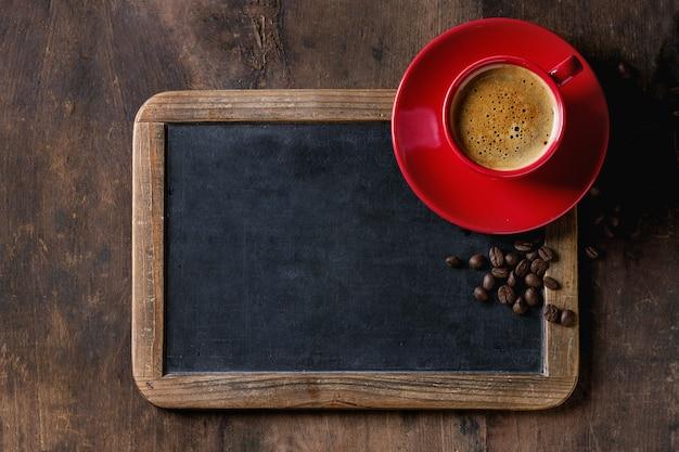 Tablica i kawa Premium Zdjęcia