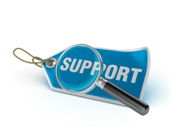 Tag Wsparcia Wsparcie Z Lupą Premium Zdjęcia