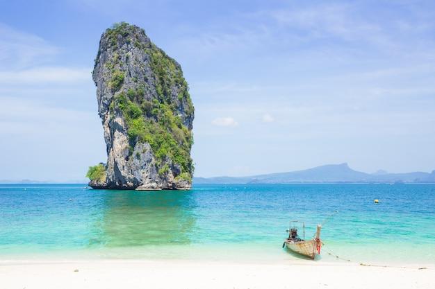 Tajlandia dennej podróży prywatna wyspa w lato sezonu pojęciu z przestrzenią dla teksta Premium Zdjęcia