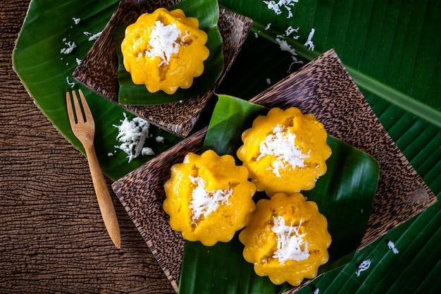 Tajlandzki deser, toddy palmy tort Premium Zdjęcia