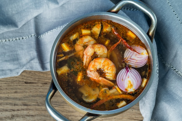 Tajska Zupa Tom Yum Premium Zdjęcia