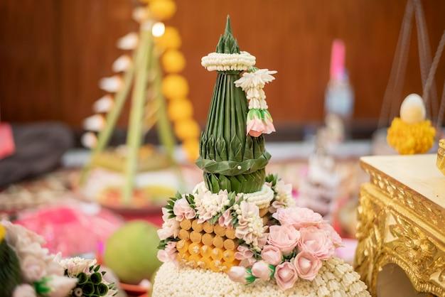 Tajskie Dekoracje ślubne Premium Zdjęcia