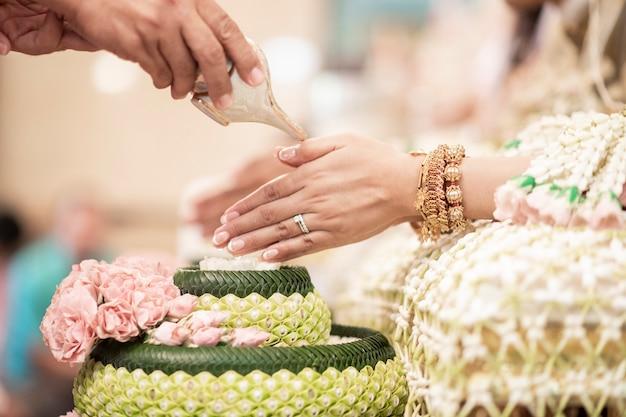 Tajskie tradycyjne dekoracje ślubne Premium Zdjęcia