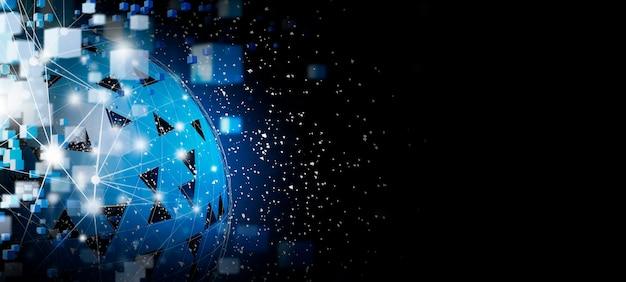 Technologia Blockchain I Globalne Połączenie Sieciowe Premium Zdjęcia