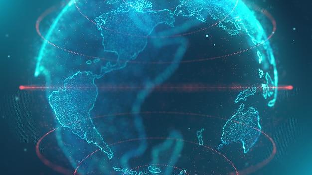 Technologia danych mapy świata Premium Zdjęcia