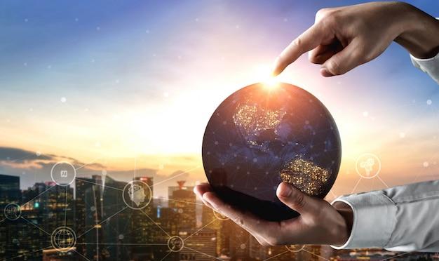 Technologia Komunikacyjna 5g Sieci Internetowej Premium Zdjęcia