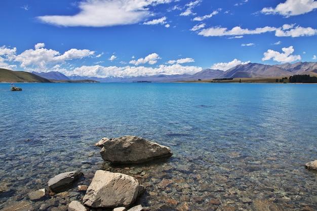 Tekapo jezioro w południowej wyspie, nowa zelandia Premium Zdjęcia
