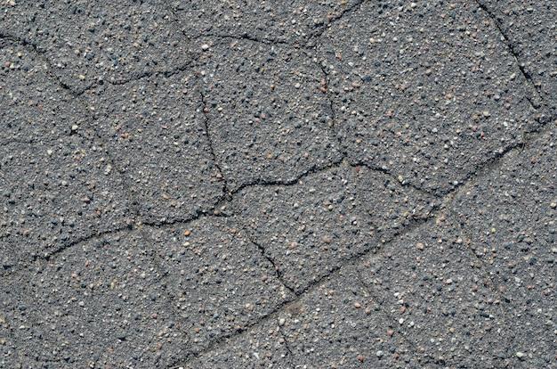 Tekstura asfaltu z pęknięciami Premium Zdjęcia