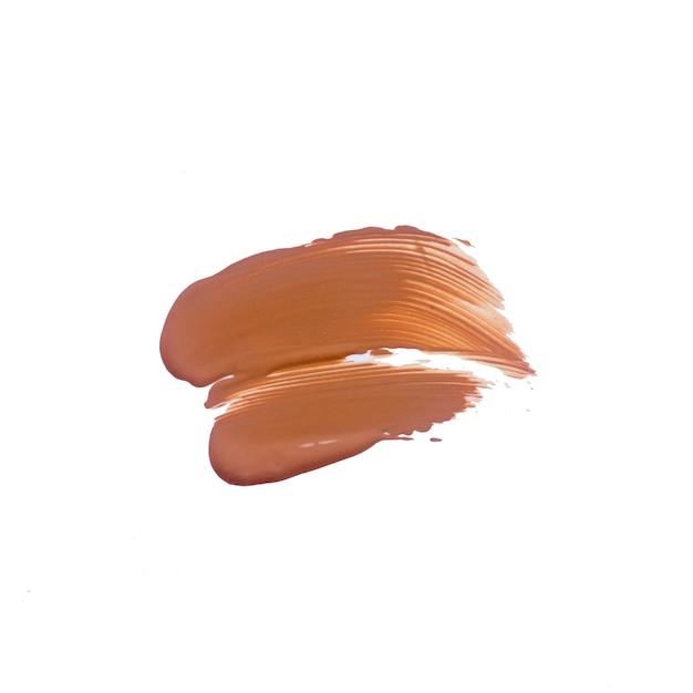Tekstura Głęboka Brown Ciekła Podstawa. Ciecza Fundacyjni Smudges Odizolowywający Premium Zdjęcia