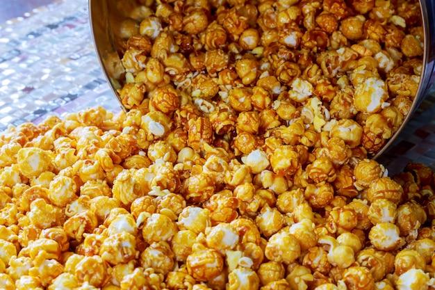 Tekstura Popcornu. Popcorn Przekąski Jak. Premium Zdjęcia