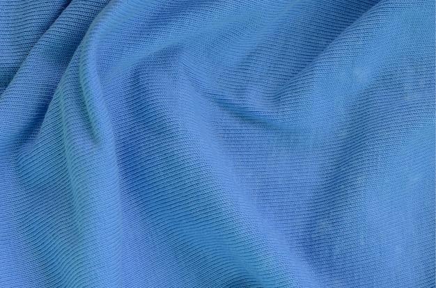 Tekstura tkaniny w kolorze niebieskim. Premium Zdjęcia