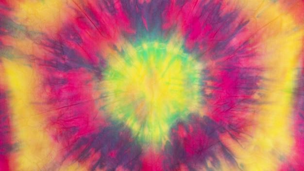 Tekstura Tkaniny Wielobarwny Gradientu Tie-dye Premium Zdjęcia
