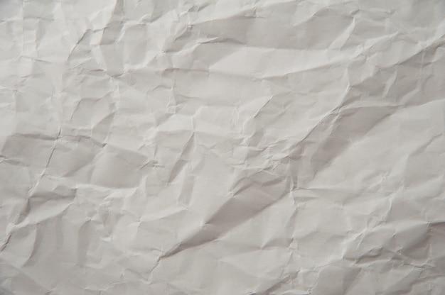 Tekstura Zmięty Papier Biały Premium Zdjęcia