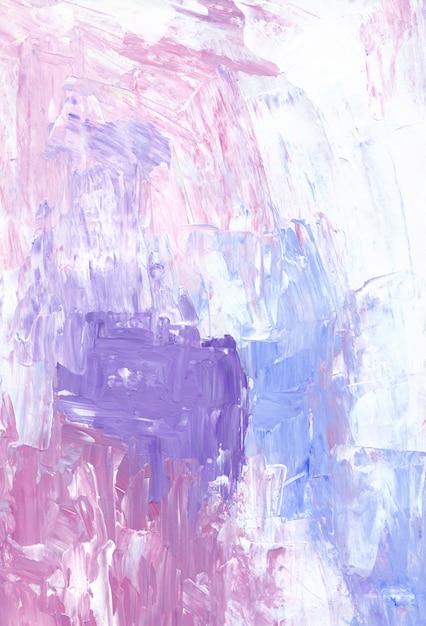 Teksturowane Tło Różowy, Niebieski, Biały I Fioletowy. Akrylowy Nóż Do Palety Jasne Tło. Premium Zdjęcia