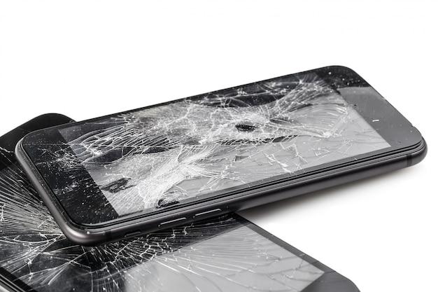 Telefon Komórkowy Z Uszkodzonym Ekranem Premium Zdjęcia