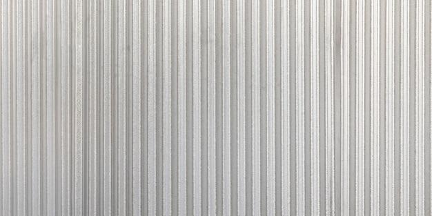 Tło falistej metalowej panoramy ściany szary. rusty cynk grunge tekstury i tła. Premium Zdjęcia