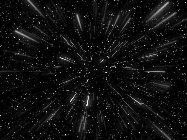 Tło Hiperprzestrzeni 3d Z Efektem Tunelu Osnowy Darmowe Zdjęcia