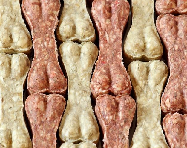 Tło Jedzenie Kości Psa Premium Zdjęcia