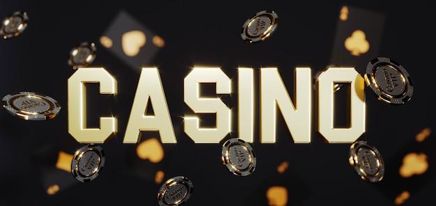 Tło Kasyna Luksusowe. Spadające żetony Do Pokera Premium Zdjęcia Premium Zdjęcia