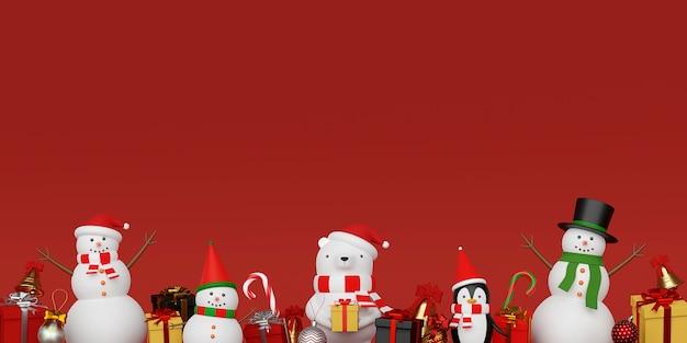 Tło ładny Charakter Bożego Narodzenia Premium Zdjęcia
