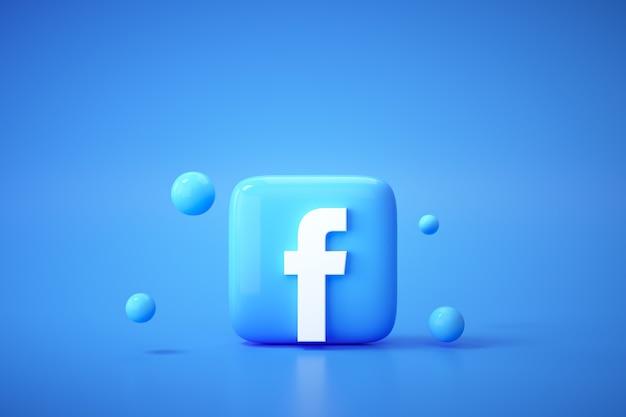 Tło Logo Facebook 3d. Facebook To Słynna Platforma Mediów Społecznościowych. Premium Zdjęcia