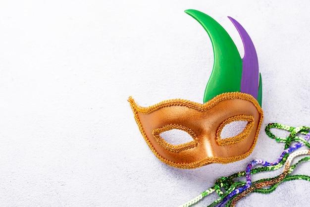 Tło Mardi Gras Z Maski Karnawałowe Premium Zdjęcia