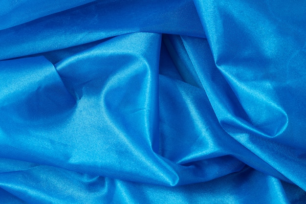 Tło niebieskie tkaniny jedwabne Premium Zdjęcia