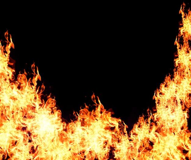 Tło płonący płomień Premium Zdjęcia