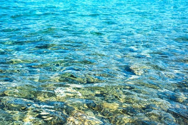 Tło Przezroczyste Fale Oceanu. Premium Zdjęcia