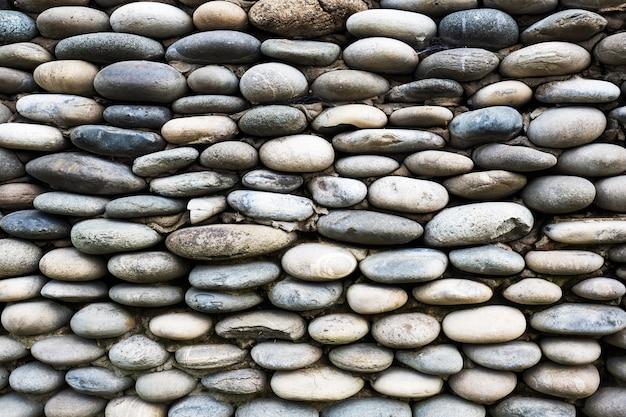 Tło ściany Wyłożonej Kamieniami. Premium Zdjęcia