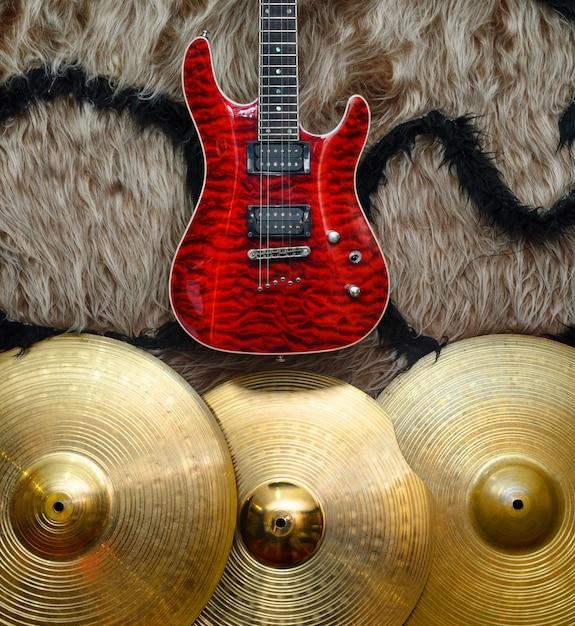 Tło Z Instrumentami Muzycznymi Premium Zdjęcia