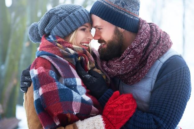 To Idealny Zimowy Dzień Dla Zakochanych Darmowe Zdjęcia