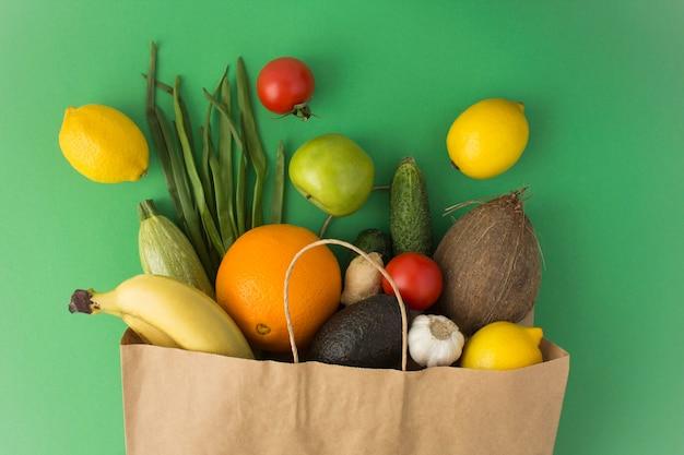Torba Papierowa Warzyw I Owoców Premium Zdjęcia